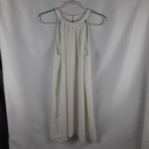 Bcbgmaxazria pleated sleeveless  dress SZ MEDIUM